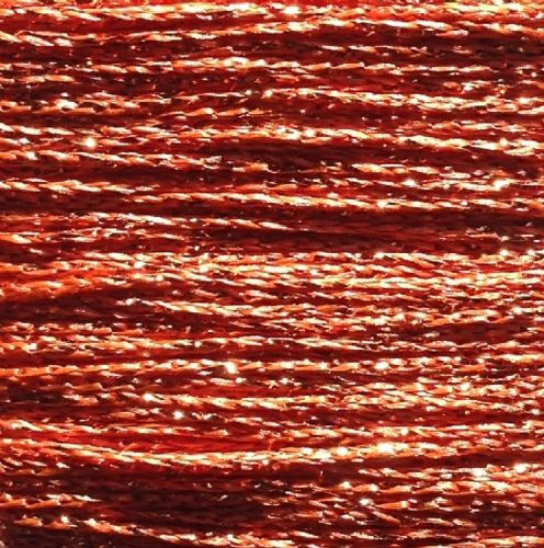 Gold Rush Metallic Glitter Thread 10m Orange
